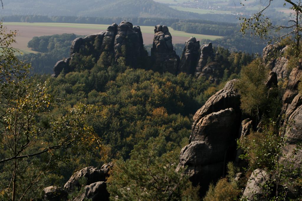 Widok z Schrammsteine