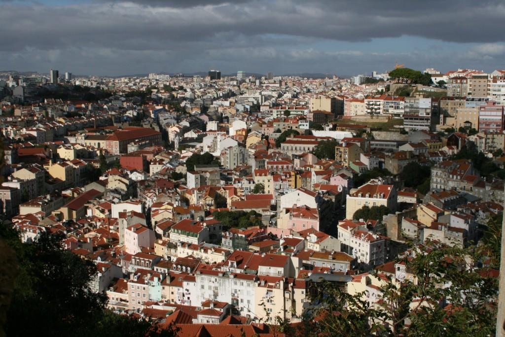 Widok z zamku na drugą stronę miasta