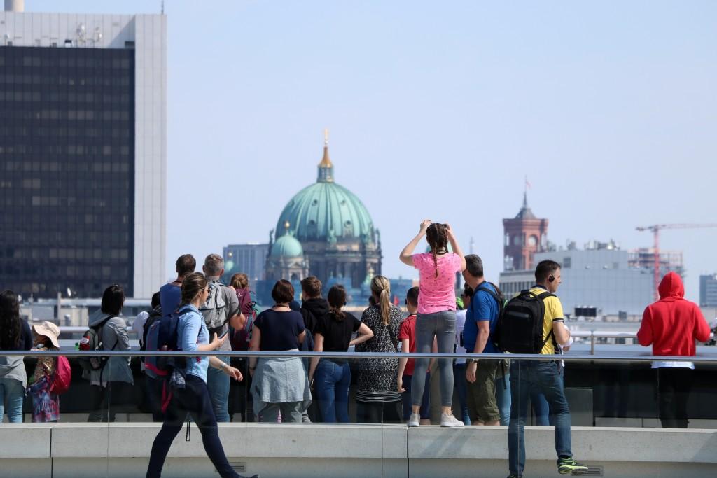 Berlin na weekend - widok z Reichstagu